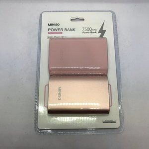 Miniso Aluminum Alloy POWER BANK w/ Cord & Cover